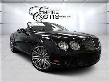 2010 Bentley Continental GTC Speed for sale in Addison, TX