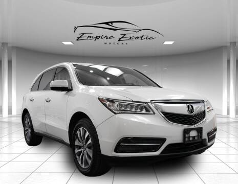 2016 Acura MDX for sale at Empire Exotic Motors in Addison TX
