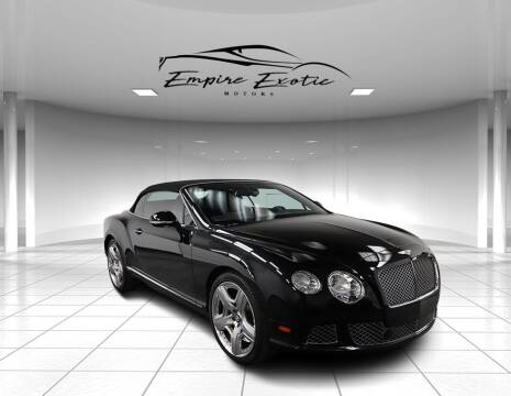 2012 Bentley Continental GT for sale at Empire Exotic Motors in Addison TX