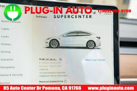 2020 Tesla Model 3 Long Range for sale at Plug In Auto in Pomona CA