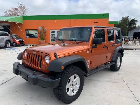 2010 Jeep Wrangler Unlimited Sport for sale at Galaxy Auto Service, Inc. in Orlando FL
