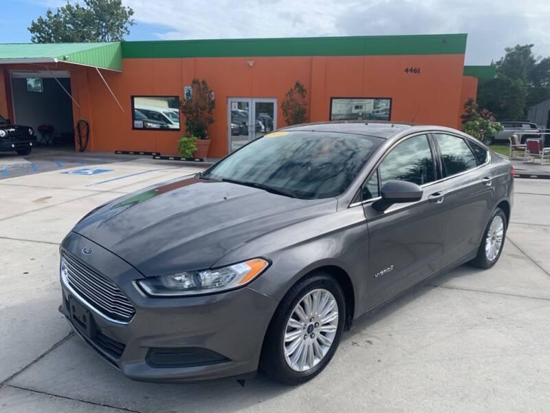 2014 Ford Fusion Hybrid for sale at Galaxy Auto Service, Inc. in Orlando FL
