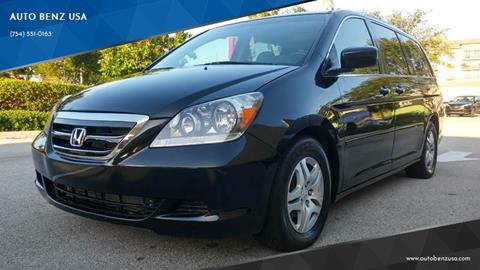 2007 Honda Odyssey for sale at AUTO BENZ USA in Fort Lauderdale FL