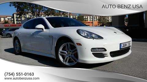 2010 Porsche Panamera for sale at AUTO BENZ USA in Fort Lauderdale FL