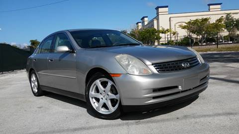 2003 Infiniti G35 for sale at AUTO BENZ USA in Fort Lauderdale FL
