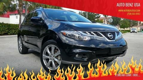 2013 Nissan Murano for sale at AUTO BENZ USA in Fort Lauderdale FL