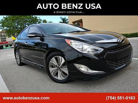 2014 Hyundai Sonata Hybrid for sale at AUTO BENZ USA in Fort Lauderdale FL