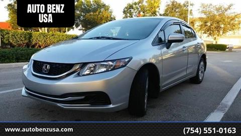 2014 Honda Civic for sale at AUTO BENZ USA in Fort Lauderdale FL