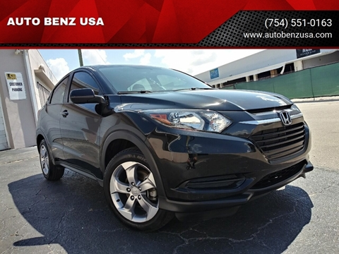 2017 Honda HR-V for sale at AUTO BENZ USA in Fort Lauderdale FL