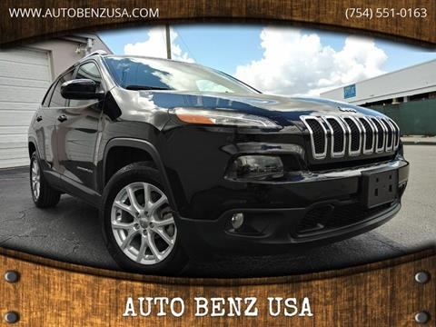 2018 Jeep Cherokee for sale at AUTO BENZ USA in Fort Lauderdale FL