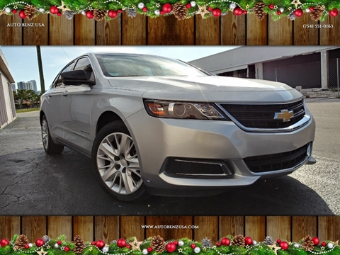 2017 Chevrolet Impala for sale at AUTO BENZ USA in Fort Lauderdale FL