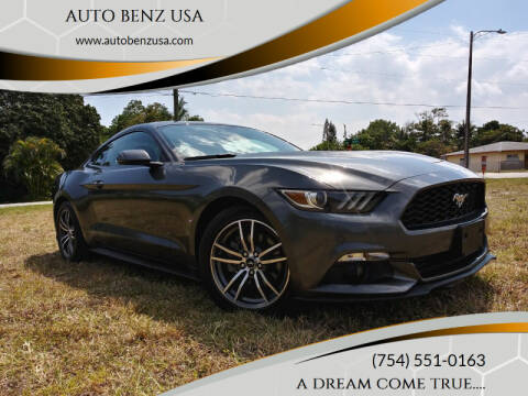 2015 Ford Mustang for sale at AUTO BENZ USA in Fort Lauderdale FL