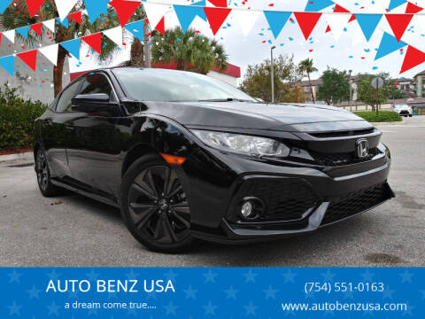 2018 Honda Civic for sale at AUTO BENZ USA in Fort Lauderdale FL