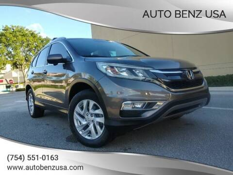 2016 Honda CR-V for sale at AUTO BENZ USA in Fort Lauderdale FL