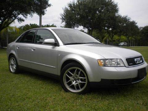2003 Audi A4 for sale at AUTO BENZ USA in Fort Lauderdale FL