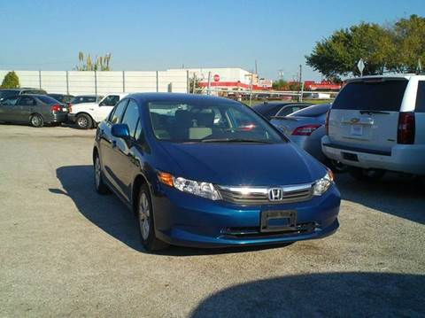 2012 Honda Civic for sale at Global Vehicles,Inc in Irving TX