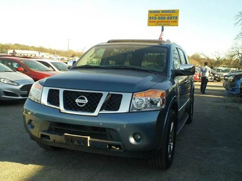 2011 Nissan Armada for sale at Global Vehicles,Inc in Irving TX