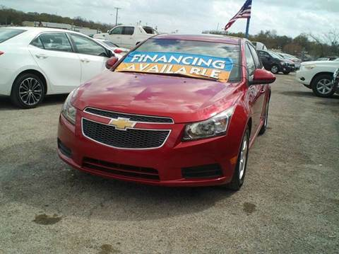 2012 Chevrolet Cruze for sale at Global Vehicles,Inc in Irving TX
