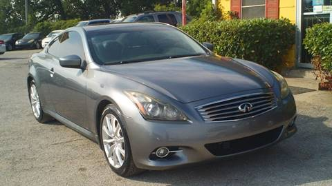 2011 Infiniti G37 Coupe for sale at Global Vehicles,Inc in Irving TX