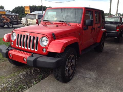 2016 Jeep Wrangler Unlimited for sale at CUMMINGS AUTO SALES in Galax VA