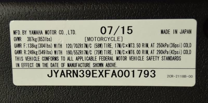 2015 Yamaha Yzf-R1 In Mesa AZ - Motomaxcycles com