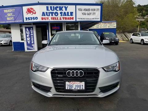 2013 Audi A5 for sale at Lucky Auto Sale in Hayward CA