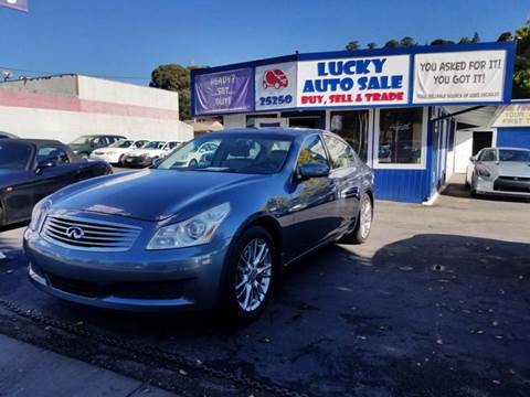 2007 Infiniti G35 for sale at Lucky Auto Sale in Hayward CA