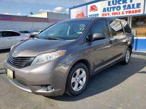 2012 Toyota Sienna for sale at Lucky Auto Sale in Hayward CA