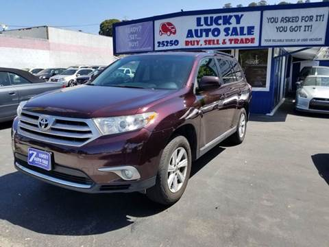 2013 Toyota Highlander for sale at Lucky Auto Sale in Hayward CA