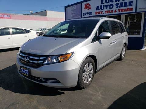 2015 Honda Odyssey for sale at Lucky Auto Sale in Hayward CA