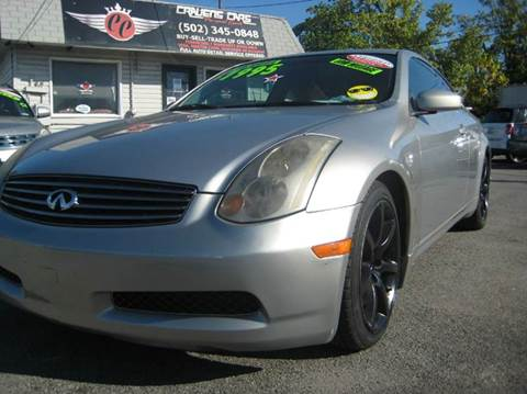 2004 Infiniti G35 for sale at Craven Cars in Louisville KY