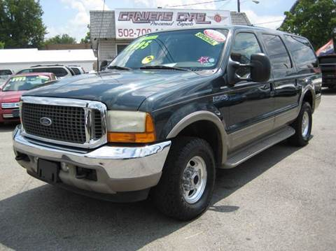 2001 Ford Excursion for sale at Craven Cars in Louisville KY
