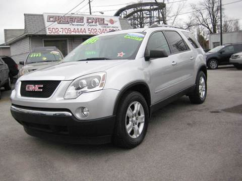 2010 GMC Acadia for sale at Craven Cars in Louisville KY