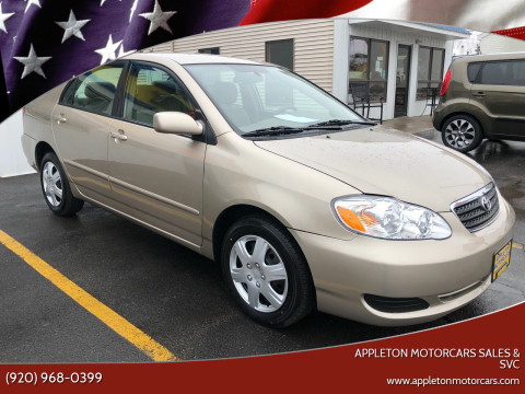 2006 Toyota Corolla for sale at Appleton Motorcars Sales & Svc in Appleton WI