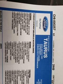 2018 Ford Taurus for sale in Union, IA