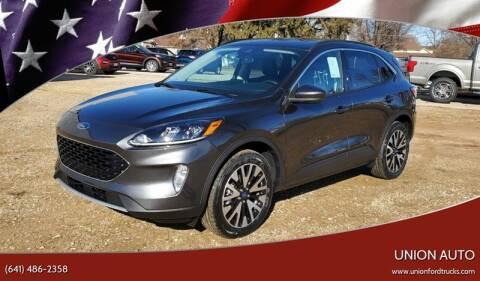 2020 Ford Escape for sale at Union Auto in Union IA