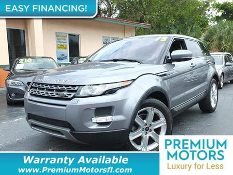 2013 Land Rover Range Rover Evoque for sale in Pompano Beach, FL