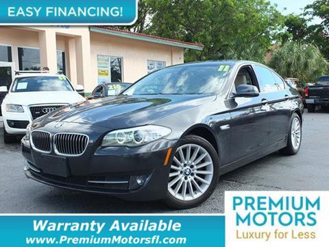 2011 BMW 5 Series for sale in Pompano Beach, FL
