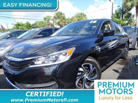 2016 Honda Accord for sale in Lauderdale Lakes, FL