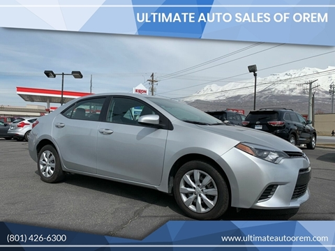 2016 Toyota Corolla for sale in Orem, UT