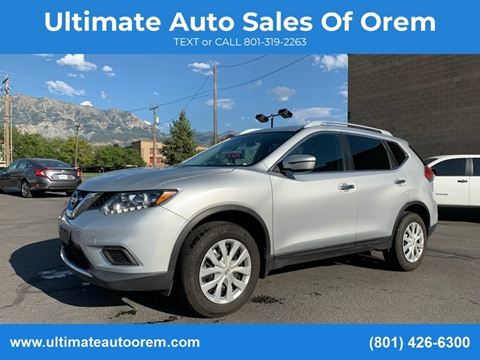 2016 Nissan Rogue for sale at Ultimate Auto Sales Of Orem in Orem UT