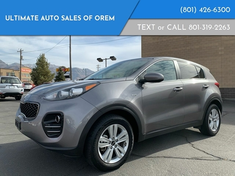 2017 Kia Sportage for sale at Ultimate Auto Sales Of Orem in Orem UT