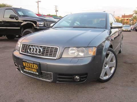 2004 Audi S4 for sale at WESTERN MOTORS in Santa Ana CA