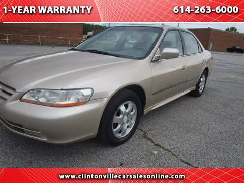 2002 Honda Accord for sale at CLINTONVILLE CAR SALES in Columbus OH