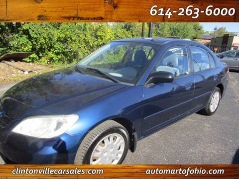 2004 Honda Civic for sale at CLINTONVILLE CAR SALES - Automart of Ohio in Columbus OH