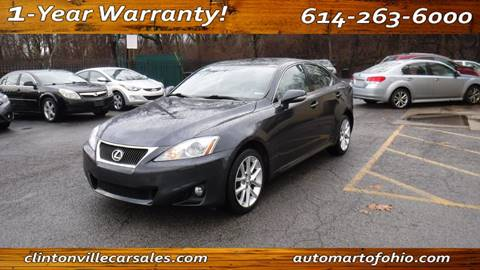 2011 Lexus IS 250 for sale at Clintonville Car Sales in Columbus OH