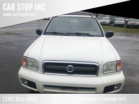 2002 Nissan Pathfinder for sale at CAR STOP INC in Duluth GA