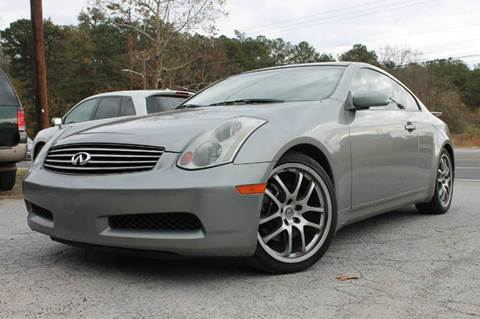 2005 Infiniti G35 for sale at CAR STOP INC in Duluth GA