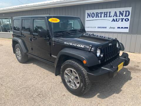 2016 Jeep Wrangler Unlimited for sale at Northland Auto in Humboldt IA