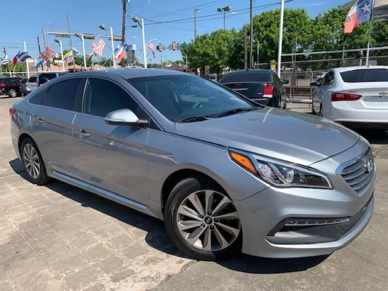 2015 Hyundai Sonata for sale at Sam's Auto Sales in Houston TX
